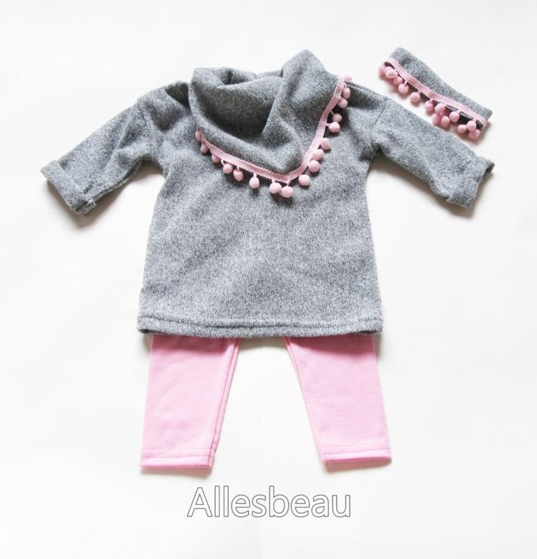beste online online bestellen laatste mode Baby setje Pom pom | Kleertjes meisje | Allesbeau