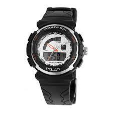 Coolwatch CW.270 analoog/ digitaal tiener horloge 36 mm 50 meter zwart/ wit