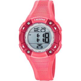 Calypso K5728/2 digitaal tiener horloge 38 mm 100 meter roze