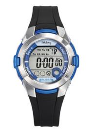 Tekday 653878 digitaal tiener horloge 38 mm 100 meter zwart/ blauw