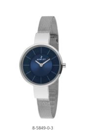 Nowley 8-5849-0-3 analoog tiener horloge 32 mm 30 meter zilverkleurig/ blauw
