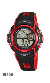 Calypso K5610/5 digitaal tiener horloge 45 mm 100 meter zwart/ rood