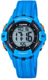 Calypso K5740/2 digitaal tiener horloge 38 mm 100 meter blauw/ zwart