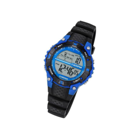 Calypso K5684/5 digitaal tiener horloge 37 mm 100 meter zwart/ blauw