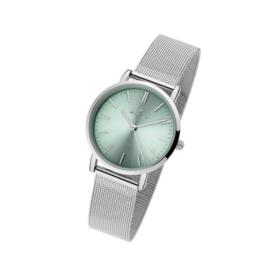 Nowley 8-5825-0-4 analoog tiener horloge 32 mm 30 meter grijs/ groen