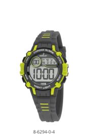 Nowley 8-6294-0-4 digitaal tiener horloge 35 mm 100 meter grijs/ groen
