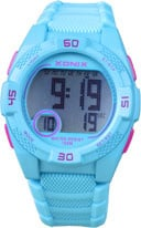 Xonix KQ-003 digitaal tiener horloge 40 mm 100 meter blauw/ roze