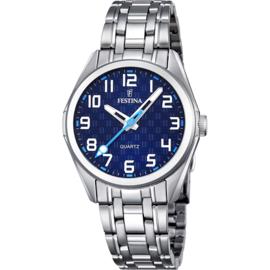 Festina F16903/2 tiener horloge 31 mm 50 meter blauw