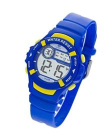 Marea B25132/3 digitaal tiener horloge 36 mm 100 meter blauw/ geel