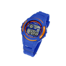 Nowley 8-6236-0-2 digitaal tiener horloge 40 mm 100 meter blauw/ oranje