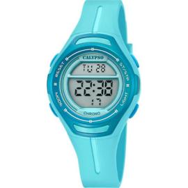 Calypso K5727/3 digitaal tiener horloge 34 mm 100 meter turquoise