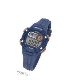 Nowley 8-6259-0-2 digitaal tiener horloge 36 mm 100 meter blauw/ oranje