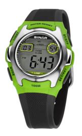 Sinar XE-50-3 digitaal tiener horloge 38 mm 100 meter groen/ grijs