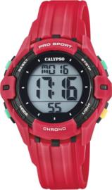 Calypso K5740/3 digitaal tiener horloge 38 mm 100 meter rood