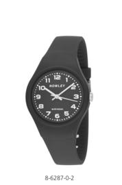 Nowley 8-6287-0-2 analoog tiener horloge 34 mm 100 meter zwart