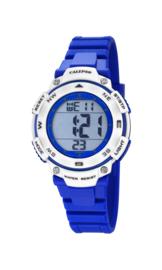 Calypso K5669/7 digitaal horloge 37 mm 100 meter blauw/ grijs