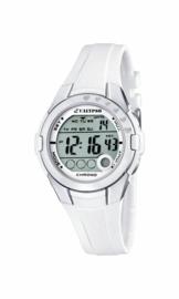 Calypso K5571/1 digitaal tiener horloge 38 mm 100 meter wit/ grijs