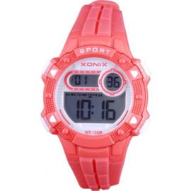 Xonix IZ-002 digitaal tiener horloge 36 mm 100 meter rood/ wit