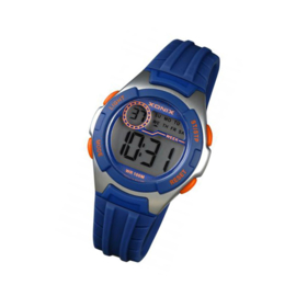 Xonix IN-006 digitaal horloge 34 mm 100 meter blauw/ zilverkleur