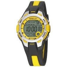 Nowley 8-6301-0-3 digitaal tiener horloge 37 mm 100 meter zwart/ geel