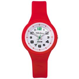 Tekday 653987 analoog horloge 32 mm 100 meter rood/ wit