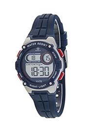 Marea B25154/3 digitaal tiener horloge 36 mm 100 meter blauw/ rood