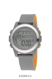 Nowley 8-6289-0-2 digitaal tiener horloge 41 mm 100 meter grijs/ oranje