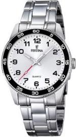 Festina F16905/1 tiener horloge 34 mm 50 meter wit/ zwart