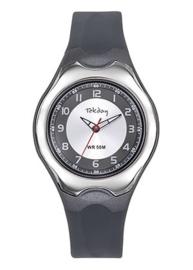 Tekday 654128 analoog tiener horloge 37 mm 50 meter grijs/ zilverkleurig
