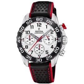 Festina F20458/1  chronograaf horloge 38 mm 50 meter zilverkleurig/ zwart