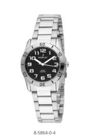 Nowley 8-5864-0-4 analoog tiener horloge 32 mm 50 meter zwart