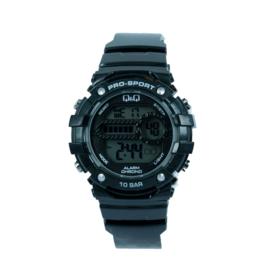 Q&Q M154J002 digitaal tiener horloge 40 mm 100 meter zwart