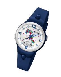 Calypso K5784/7 analoog unicorn horloge 34 mm 100 meter blauw