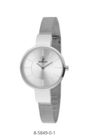 Nowley 8-5849-0-1 analoog tiener horloge 32 mm 30 meter zilverkleurig/ parelmoer