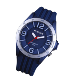 Xonix WY-004 analoog tiener horloge 38 mm 100 meter blauw