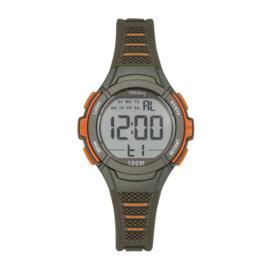 Tekday 654660 digitaal  tiener horloge 35 mm 100 meter grijs/ oranje