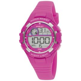 Nowley 8-6241-0-5 digitaal tiener horloge 38 mm 100 meter roze