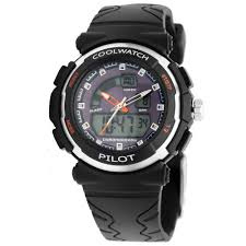 Coolwatch CW.271 analoog/ digitaal tiener horloge 36 mm 50 meter zwart