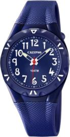 Calypso K6064/3 analoog tiener horloge 35 mm 100 meter blauw