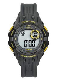 Tekday 653262 digitaal tiener horloge 40 mm 100 meter grijs/ geel