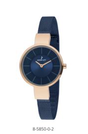 Nowley 8-5850-0-2 analoog tiener horloge 32 mm 30 meter blauw/ rosé