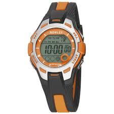 Nowley 8-6301-0-5 digitaal tiener horloge 37 mm 100 meter zwart/ oranje