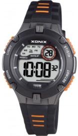 Xonix IV-005 digitaal tiener horloge 34 mm 100 meter zwart/ oranje