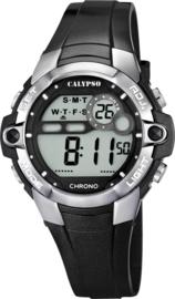 Calypso K5617/6 digitaal tiener horloge 37 mm 100 meter zwart/ grijs