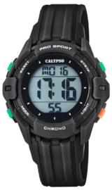 Calypso K5740/6 digitaal tiener horloge 38 mm 100 meter zwart