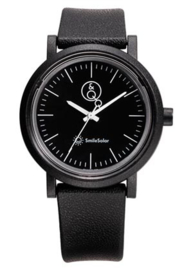 Q&Q 651024 Smile Solar tiener horloge 40 mm 100 meter zwart