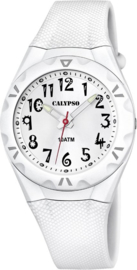 Calypso K6064/1 analoog tiener horloge 35 mm 100 meter wit
