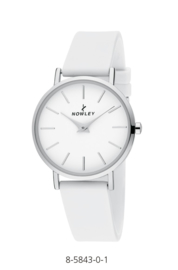 Nowley 8-5843-0-1 analoog tiener horloge 34 mm 30 meter wit