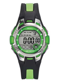 Tekday 653943 digitaal tiener horloge 37 mm 100 meter zwart/groen