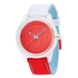 Q&Q RP00J011Y Smile Solar tiener horloge 50 meter 40 mm rood/ wit/ blauw